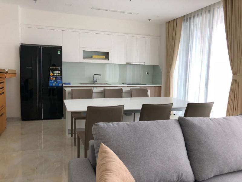Cho Thuê Căn Hộ Vinhomes Ba Son 3 Phòng Ngủ Toà Aqua 1  Full Nội Thất Giá 2600 USD