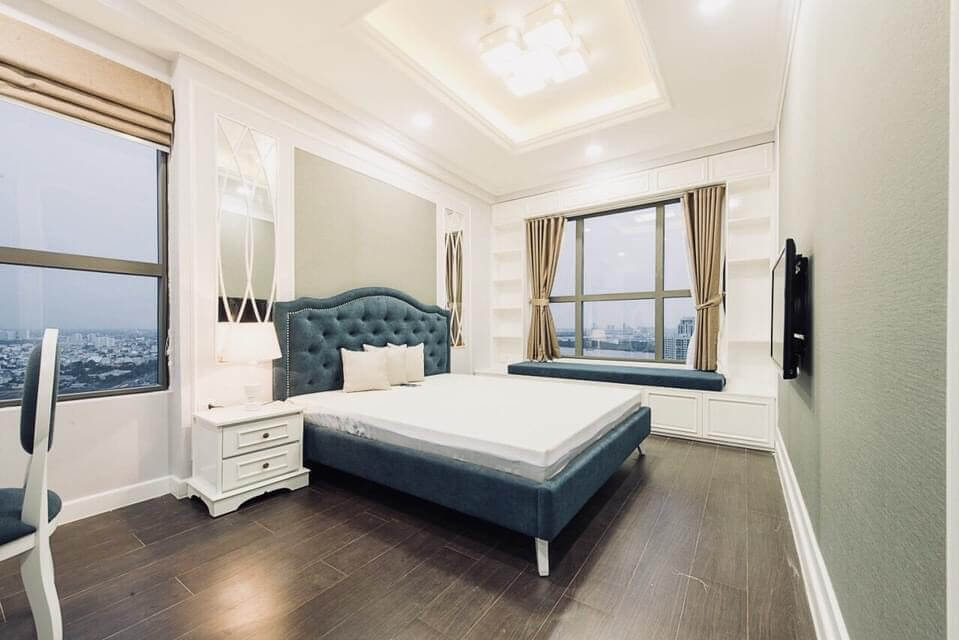 phòng ngủ căn hộ The Sun Avenue
