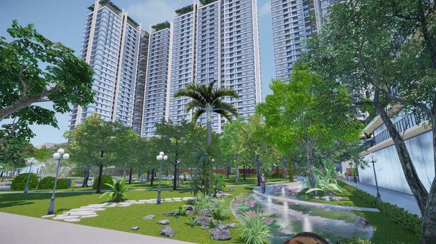Công viên xanh căn hộ Kingdom 101