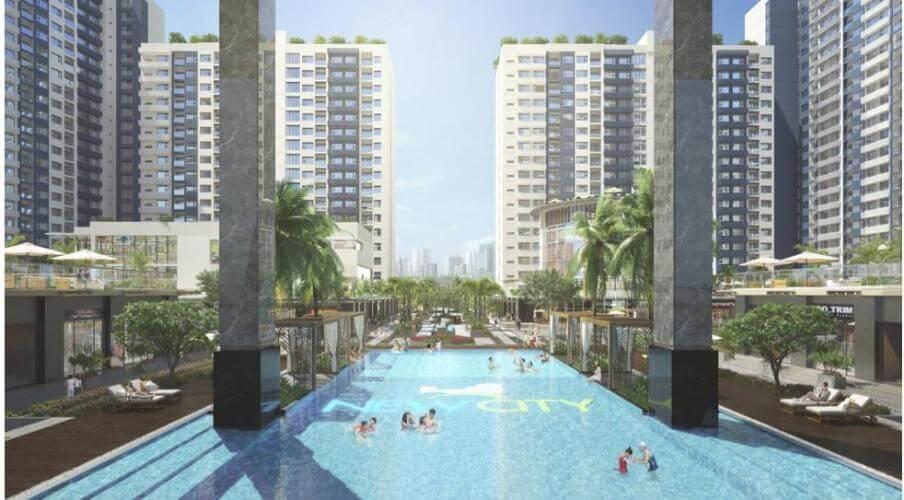 hồ bơi căn hộ new city quận 2