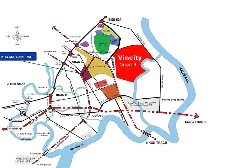 Vị trí Biệt Thự Vincity Quận 9