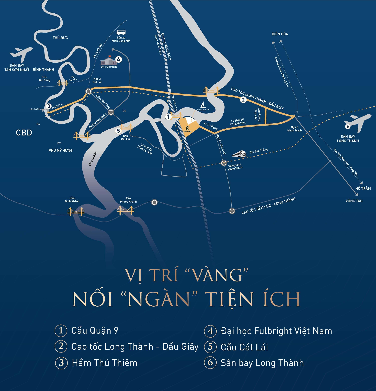 Vi tri du an dat nen Kingbay Nhơn Trạch Đồng Nai